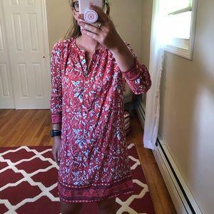 Loft 3/4 sleeve shift dress